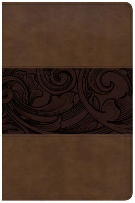 CSB Study Bible, Personal Size Edition, Mahogany LeatherTouch
