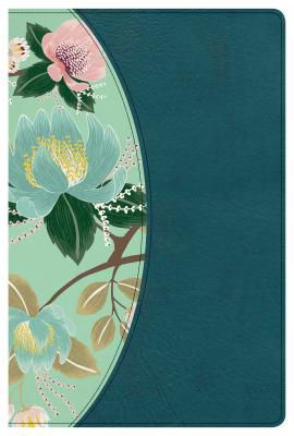 CSB Study Bible For Women, Teal Flowers LeatherTouch, Indexed